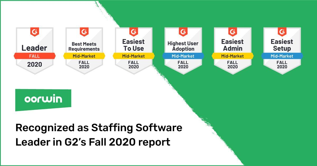 Oorwin -Top staffing software awards
